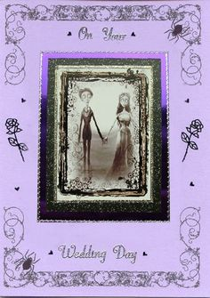 Unusual Corpse Bride Gothic Wedding Card