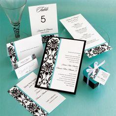Victoria Damask Wedding Invitations | The American Wedding