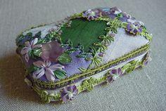 ribbon embroidery beaded altoids tin