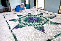 Amish quilting -- photos by Bill Coleman