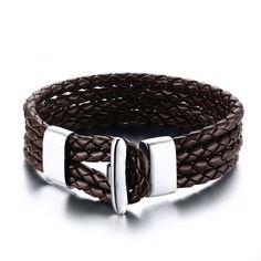 Купить товар2016 новый черный кожаный браслет и браслет оптовая продажа мода браслет мужчины ювелирные изделия в категории Цепи и браслетына AliExpress.                                                             Арт. №                       BL-001B BL-001Z