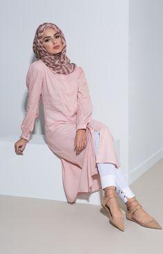 Pinterest: eighthhorcruxx. Aab UK Kireina Kurti - Pink abaya from Inayah.