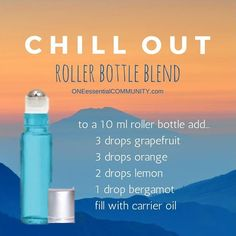 Need to relax a little? Need to find your happy place? Try this Chill Out roller bottle blend-- it's one of my absolute favorites!!