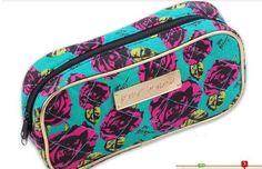Betsey Johnson Trendy Big Flower Rose Cosmetic Bag