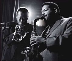 Miles Davis and Cannonball Adderley