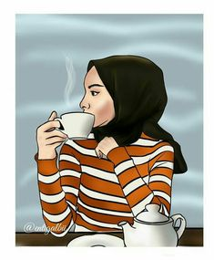 Pin by Aaida on Muslim girl in 2019 Cartoon Kunst, Cartoon Art, Tmblr Girl, Hijab Drawing, Islamic Cartoon, Hijab Cartoon, Cute Cartoon Girl, Muslim Girls, Muslim Couples