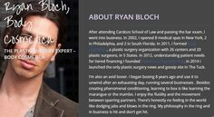 Ryanbloch opened 8 medical spas in New York, 2 in Philadelphia, and 2 in South Florida. In 2011.