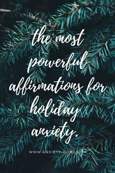 Keep your holiday anxiety at bay with these soothing affirmations that remind you to practice gratitude, self care, stress relief and more. Mantras For Anxiety, Affirmations For Anxiety, Anxiety Quotes, Positive Affirmations, Anxiety Relief, Stress Relief, Effects Of Anxiety, Deal With Anxiety, Practice Gratitude