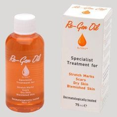 Re-gen Oil Specialist Treatment for Stretch Marks, Scars, Dry Skin and Blemished Skin 75ml by RE-GEN OIL. $17.75. HELPS IMPROVE THE CONDITION OF SCARS,. HELPS REDUCE THE APPEARANCE OF BLEMISHES, MAKES SKIN SOFT AND SUPPLE.. HELPS IMPROVE THE APPEARANCE OF SAGGING AND WRIKLED SKIN, SHOWS WATER REPELLENT PROPERTIES. HELPS PROTECT AGAINST THE DRYING EFFECTS OF WIND AND WATER CAUSING DRY SKIN,. HELPS PREVENT AND REDUCE THE APPEARANCE OF STRETCH MARKS,. DERMATOLOGICALLY TESTED ...