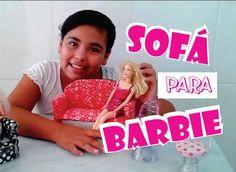 Sofá para Barbie .. Como fazer ... Lindo e Fácil   :)