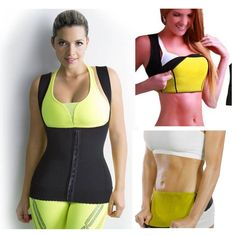 Hot Thermal Neoprene Body Slimming Vest with Clips (Large), Women's