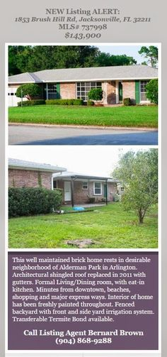 New Listing Alert brought to you by INI Realty Investments, Inc., the first 100% Commission Real Estate Office in Jacksonville, FL. www.100RealEstateJax.com