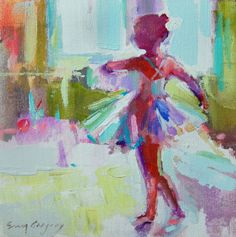 """high-quality giclee print on archival paperSales tax and shipping costs are included in the priceAll profits go to """"Young Lives"""" of Columbus, Georgia Paintings I Love, Beautiful Paintings, Erin Gregory, Ballerina Painting, Little Ballerina, Figure Painting, Figurative Art, Mixed Media Art, Giclee Print"""