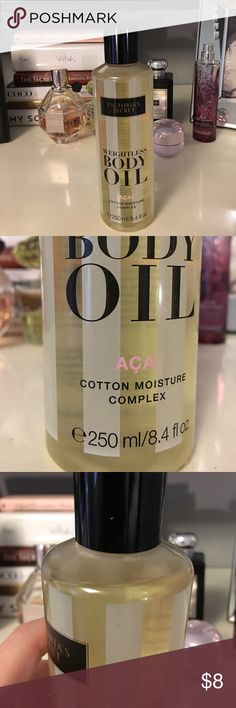 ⚡️Victoria Secret Acai Body Oil ⚡️Victoria Secret Acai Body Oil - used once. Great scent, would keep but I have so many beauty products. Cleaning out all my products! Victoria's Secret Makeup