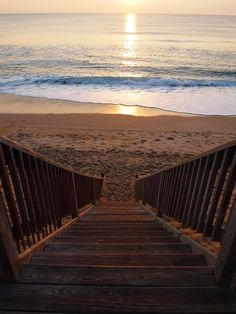 Stairway to the beach in OBX. Outer Banks, NC.