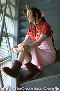 Aeris Gainsborough - Costume by *Adella on deviantART http://finalfantasy.wikia.com/wiki/Aerith_Gainsborough