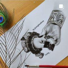 Radha Krishna Sketch, Radha Krishna Songs, Krishna Drawing, Krishna Painting, Krishna Art, Krishna Names, Tanjore Painting, Sketches Of Love, Girl Drawing Sketches