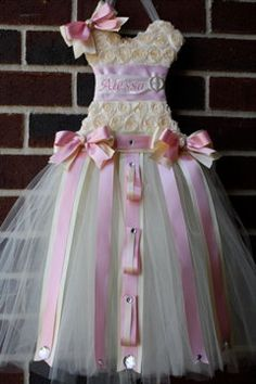 What to do with all those hairclips and flower clips?  Hang them from a cute tutu!