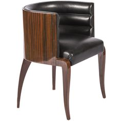 Macassar Deco Barrel Back Chair | From a unique collection of antique and modern club chairs at https://www.1stdibs.com/furniture/seating/club-chairs/