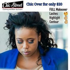 A $20  Chic Over from @chic_street_zim uses Black Opal products and Zora make up brushes blenders and lashes. It is the festive season. Graduation Parties, end of year parties , Christmas get togethers .Chic Street make overs with Black Opal. Start Thinking😉