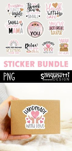 Craft Stickers, Printable Stickers, Printable Planner, Planner Stickers, Packaging Stickers, Business Stickers, Brighten Your Day, Print And Cut, Journal Cards