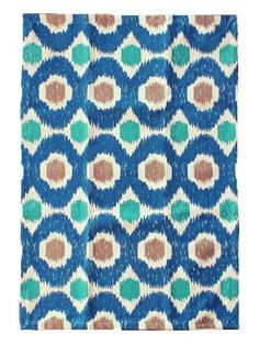 Hand printed, hand woven Weaver rug from redinfred