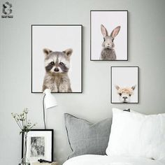 Nordic Racoon Bangs Canvas Art Prints and Posters Decorative, Wall Art Bunny Paintings Picture for Kids Bedroom Home Decor Painting Pictures For Kids, Canvas Pictures, Pictures To Paint, Nordic Art, Scandinavian Art, Nordic Design, Modern Design, Canvas Art Prints, Canvas Wall Art