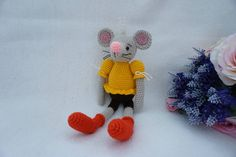 Mouse crochet pattern / sweet mouse girl by suwannascraftsroom on Etsy https://www.etsy.com/listing/539668575/mouse-crochet-pattern-sweet-mouse-girl