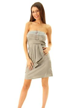 DHStyles Women's Gray Fancy Pleated Strapless Dress - Large #sexytops #clubclothes #sexydresses #fashionablesexydress #sexyshirts #sexyclothes #cocktaildresses #clubwear #cheapsexydresses #clubdresses #cheaptops #partytops #partydress #haltertops #cocktaildresses #partydresses #minidress #nightclubclothes #hotfashion #juniorsclothing #cocktaildress #glamclothing #sexytop #womensclothes #clubbingclothes #juniorsclothes #juniorclothes #trendyclothing #minidresses #sexyclothing…