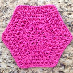 Ravelry: African Flower Dishcloth free pattern by Casey Downing