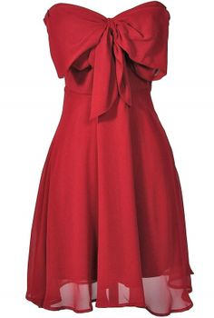 Oversized Bow Chiffon Dress