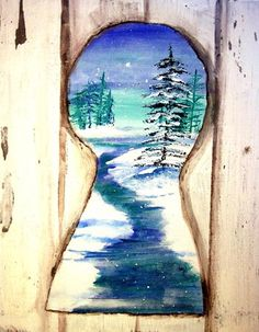 "Keyhole Paintings - Did with 5th grade, turned out AMAZING.  Each student got a book about a different country, chose a picture to copy within their ""keyhole.""  Draw then paint.  Used oil pastels to create door and wood grain.  Cut out key shape from template and wrote a sentence explaining their keyhole and attached to the bottom of the picture.  Lots of compliments!"