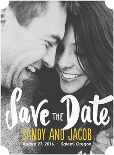 Show off the genuine love you and your fiancee share in your simple Save the Dates.   www.WeddingPaperDivas.com