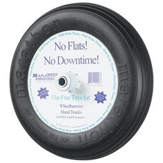Marathon 3502508 Flat Free Tire on Wheel 3 Centered Hub 34 Bearings * Read more reviews of the product by visiting the link on the image.