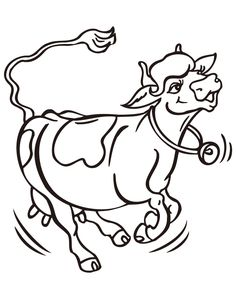 Cartoon Cow Coloring Pages - ClipArt Best
