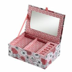 Flower Girl Jewelry Box, Pink contemporary-jewelry-boxes-and-organizers Flower Girl Jewelry, Girls Jewelry Box, Baby Jewelry, Craft Station, Indian Jewellery Online, Best Friend Jewelry, Gifts For Girls, Crate And Barrel, Cool Gifts