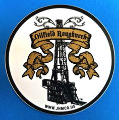 Oilfield Trash Oil well gas pump roughneck sticker decal gift drill bit rig pdc