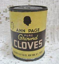 Early 2 oz Ann Page Cloves Round Advertising Spice Tin $8.00