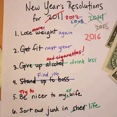 Rearranging My New Year's Resolutions http://ibeebz.com