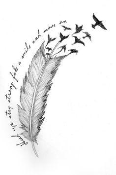 Anklet Tattoos, Spine Tattoos, Body Art Tattoos, Sleeve Tattoos, Tatoos, Feather Tattoo Design, Feather Tattoos, Flower Tattoos, Small Quote Tattoos