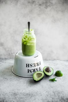 Avocado Watercress And Lime Smoothie - Cook Republic #vegan #glutenfree #greensmoothie