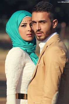 what a gorgeous couple Islamic Fashion, Muslim Fashion, Hijab Fashion, Muslim Brides, Muslim Women, Cute Muslim Couples, Cute Couples, Hijab Bride, Girl Hijab