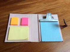 caderno de anotações cartonagem
