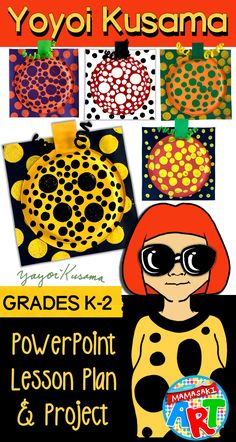 fall art projects for kids Introduce your younger students to artist Yayoi Kusama with this engaging and easy to understand Yayoi Kusama Lesson and Project! Fall Art Projects, Art Projects For Adults, Toddler Art Projects, Art Lessons For Kids, Kindergarten Art Lessons, Art Lessons Elementary, Elementary Education, Art Education, Yayoi Kusama Pumpkin