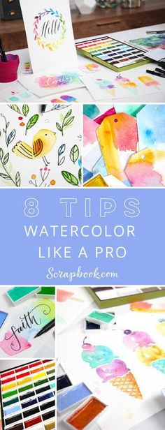Join Natalie Malan as she shares 8 tips that will have you watercoloring like a pro in no time!