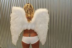 Want these wings? Kameron is modeling the white deluxe wings.