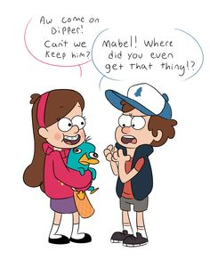 Gravity Falls - Mabel and Dipper find a New Pet by torakodragon.deviantart.com on @deviantART