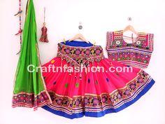 Banjara Style Mirror Work Ghagra Choli #Craftnfashion #Chaniyacholi #GhagraCholi #KutchEmbroidered #GarbaDress #DandiyaDance #IndianTraditional #IndianEthnic #LehengaCholi Dandiya Dress, Gagra Choli, Garba Dress, Work Blouse, Occasion Wear, Indian Ethnic, Lehenga Choli, Dance Costumes, Summer Dresses