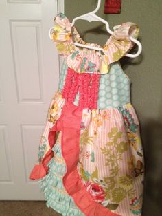 """A dress I made for Aspen's 4th Birthday """"cowgirl party"""""""