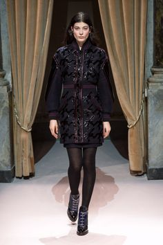 Look 18 from Fay Women's Fall - Winter 2014/15 collection seen on the catwalk.